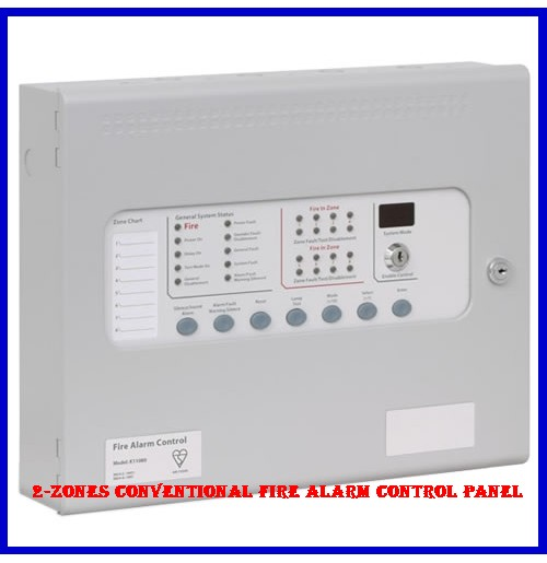 2-Zones Conventional Fire Alarm control Panel