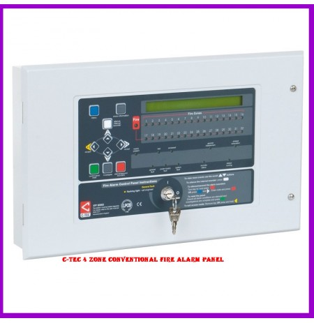 C-TEC 4 Zone Conventional Fire Alarm Panel