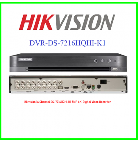 Hikvision 16 Channel DS-7216HQHI-K1 5MP 4K  Digital Video Recorder