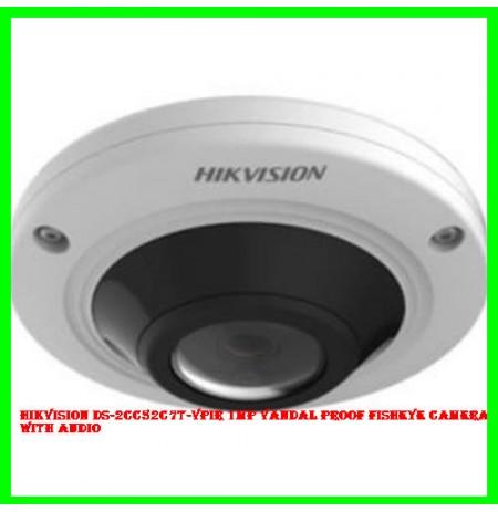 Hikvision DS-2CC52C7T-VPIR 1MP Vandal proof Fisheye Camera with Audio