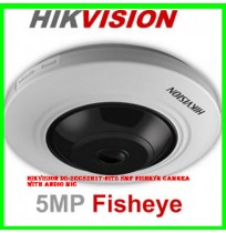 Hikvision DS-2CC52H1T-FITS 5MP Fisheye Camera with Audio Mic