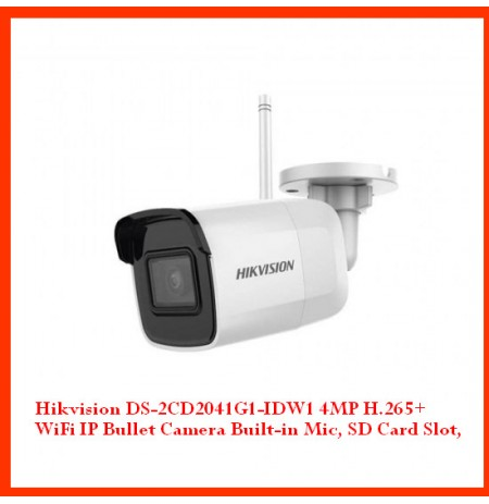 Hikvision DS-2CD2041G1-IDW1 4MP H.265+ WiFi IP Bullet Camera Built-in Mic, SD Card Slot