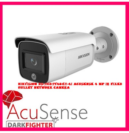 Hikvision DS-2CD2T46G2-4I AcuSense 4 MP IR Fixed Bullet Network Camera