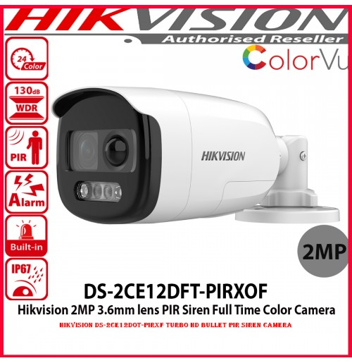 Hikvision DS-2CE12DOT-PIRXF Turbo HD Bullet PIR Siren camera