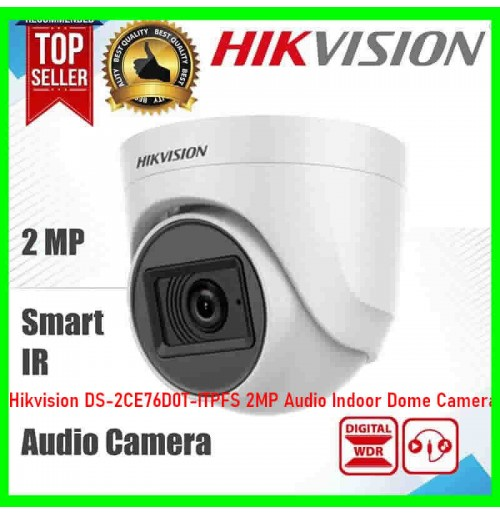 Hikvision DS-2CE76D0T-ITPFS 2MP Audio Indoor Dome Camera