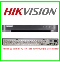 Hikvision DS-7224HQH1-K2 24ch Turbo  4k 4MP HD Digital Video Recorder