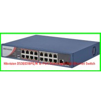 Hikvision DS3E0318PE/M 16-Port Unmanaged PoE Ethernet Switch