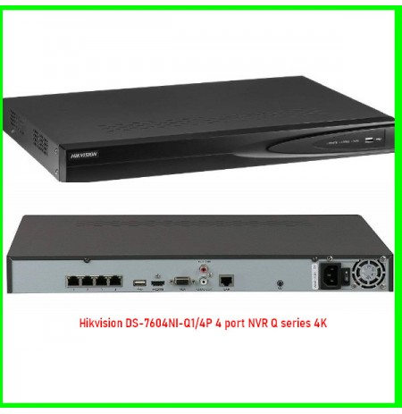 Hikvision DS-7604NI-Q1/4P 4 port NVR Q series 4K