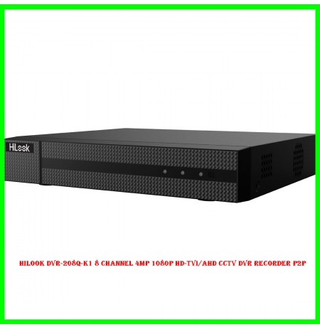 Hilook DVR-208Q-K1 8 Channel 4MP 1080P HD-TVI/AHD CCTV DVR Recorder P2P