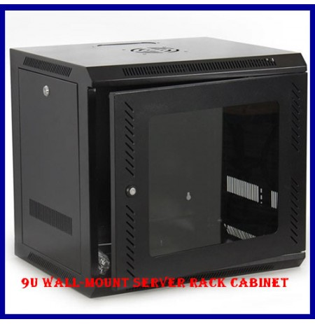 9U Wall-Mount Server Rack Cabinet