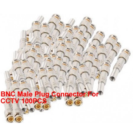 BNC Male Plug Connector For CCTV 100PCS