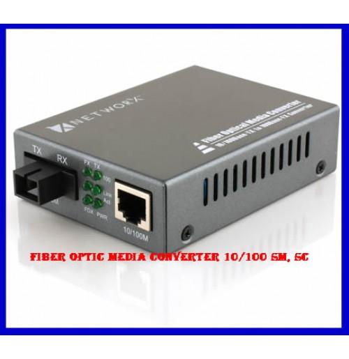 Fiber optic media converter 10/100 SM, SC