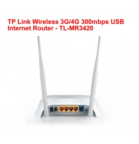 TP Link Wireless 3G/4G 300mbps USB Internet Router - TL-MR3420