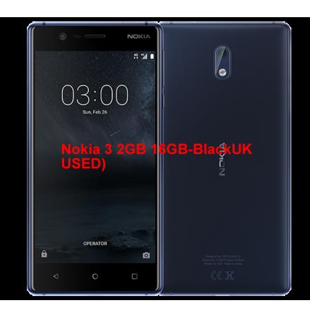 Nokia 3 2GB 16GB-Black (UK USED)