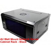 4U Wall Mount Network Server Cabinet Rack - Black