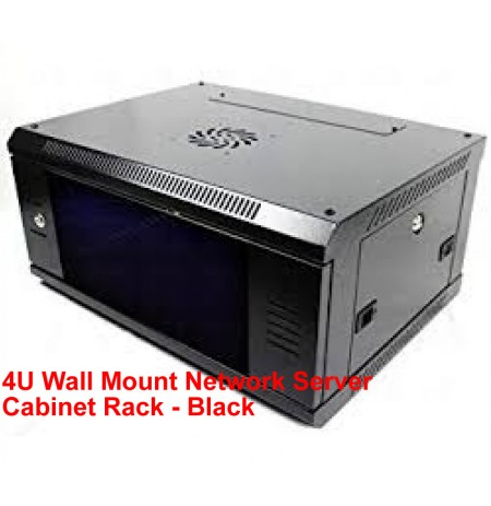 4U Wall Mount Network Server Cabinet Rack - Black