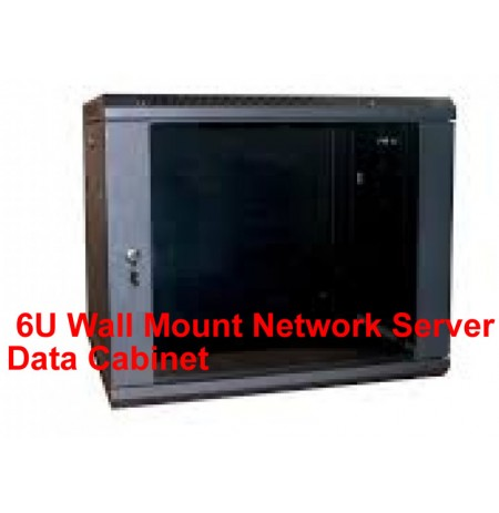 6U Wall Mount Network Server Data Cabinet Enclosure Rack Glass Door Lock