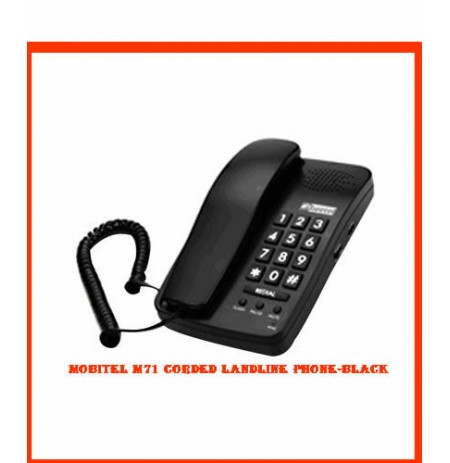 Mobitel M71 Corded Landline Phone-Black