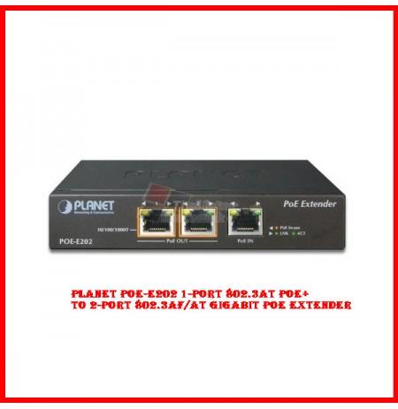 Planet POE-E202 1-Port 802.3at PoE+ to 2-Port 802.3af/at Gigabit PoE Extender