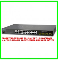 Planet WGSW-24040 L2+ 24-Port 10/100/1000T + 4-Port Gigabit TP/SFP Combo Managed Switch