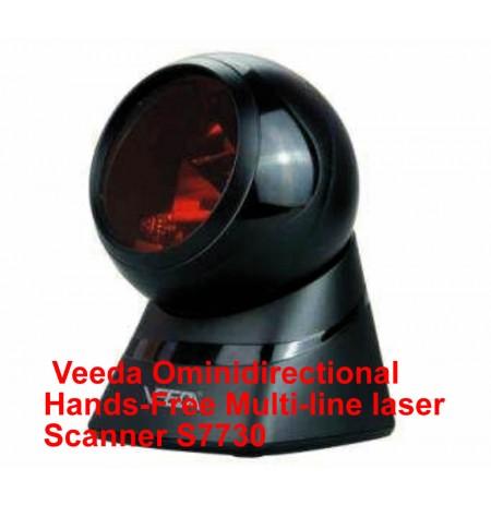 Veeda Omnidirectional Hands-Free Multi-line laser Scanner S7730