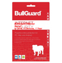 BullGuard Internet Security 2018, 3 Devices, 1 Year