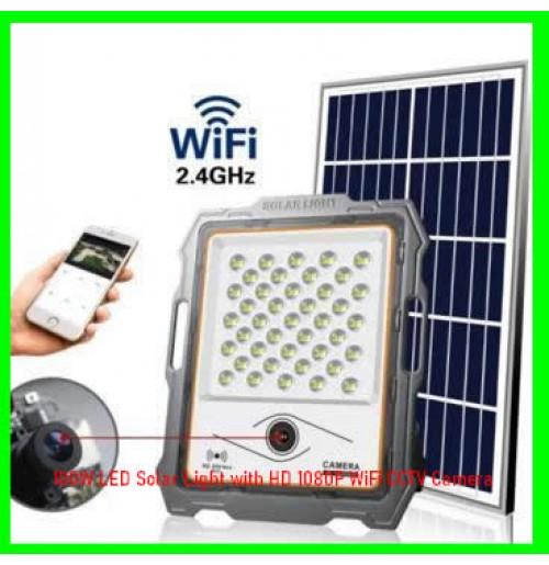 100W LED Solar Light with HD 1080P WiFi CCTV Camera
