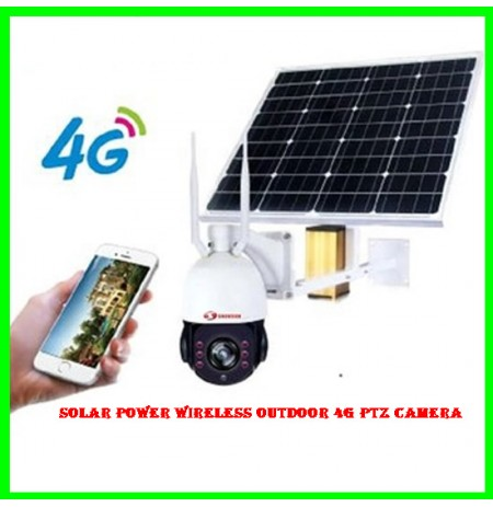 Solar Power Wireless Outdoor 4G PTZ Camera