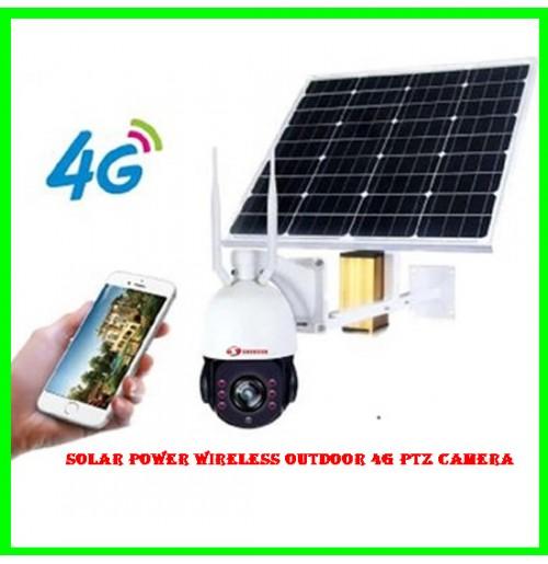 Solar Power Wireless Outdoor 4G PTZ Camera