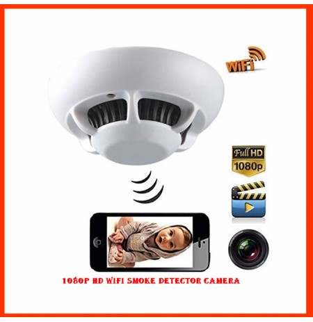1080p HD Wifi Smoke Detector Camera