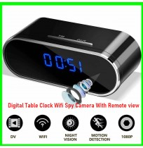 Digital Table Clock Wifi Spy Camera With Remote view