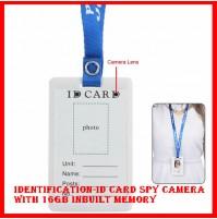 Identification-ID Card Spy Camera with 16gb inbuilt memory