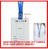 Identification-ID Card Spy Camera with 16gb inbuilt memory