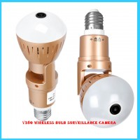 V380 wireless bulb surveillance camera