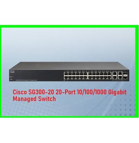 Cisco SG300-20 20-Port 10/100/1000 Gigabit Managed Switch