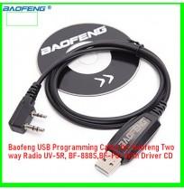 Baofeng USB Programming Cable for Baofeng Two way Radio UV-5R, BF-888S,BF-F8+ With Driver CD