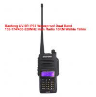 Baofeng UV-9R IP67 Waterproof Dual Band 136-174/400-520MHz Ham Radio 10KM Walkie Talkie