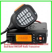 Baojie BJ-218 Long Range Mini Car Mobile 25W Dual Band VHF/UHF Radio Transceiver