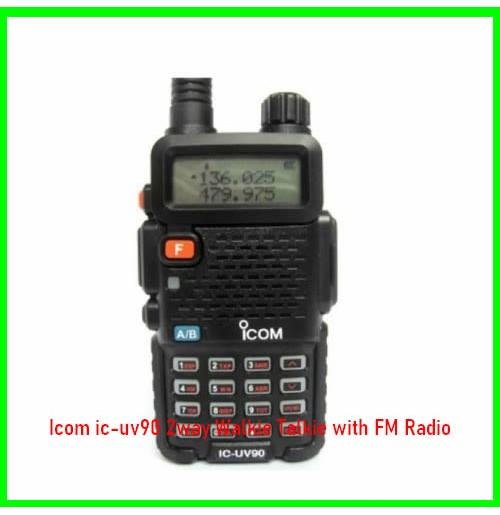 Icom ic-uv90 2way Walkie Talkie with FM Radio