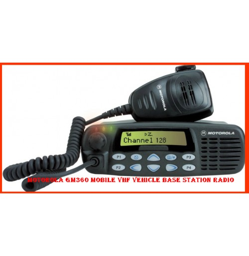 Motorola GM360 Mobile VHF Vehicle Base Station Radio