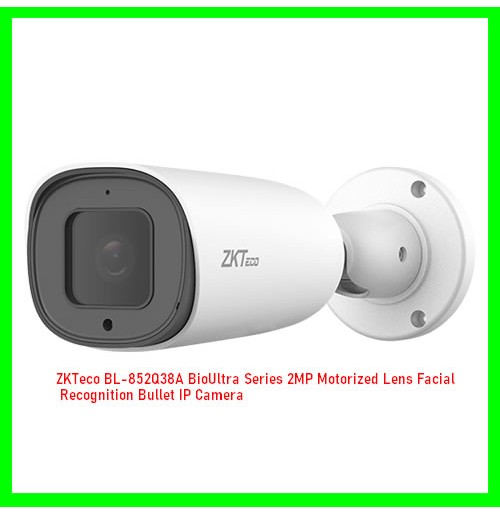 ZKTeco BL-852Q38A BioUltra Series 2MP Motorized Lens Facial Recognition Bullet IP Camera
