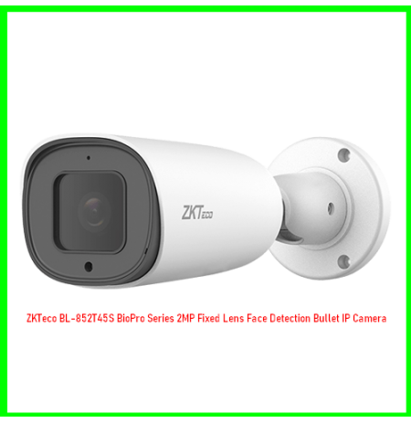ZKTeco BL-852T45S BioPro Series 2MP Fixed Lens Face Detection Bullet IP Camera